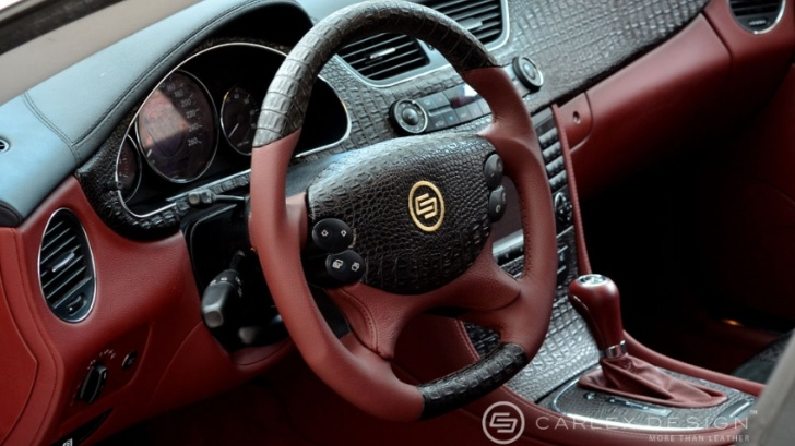 crocodile leather car interior