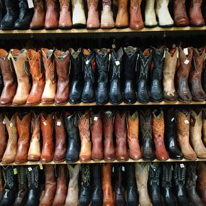 Leather footwear comes in a variety of sizes, colors, and materials.