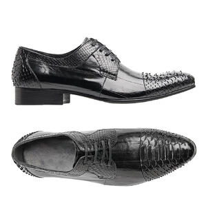 It takes a bit of work, but you can create incredibly distinct and elegant men's shoes out of exotic leather.
