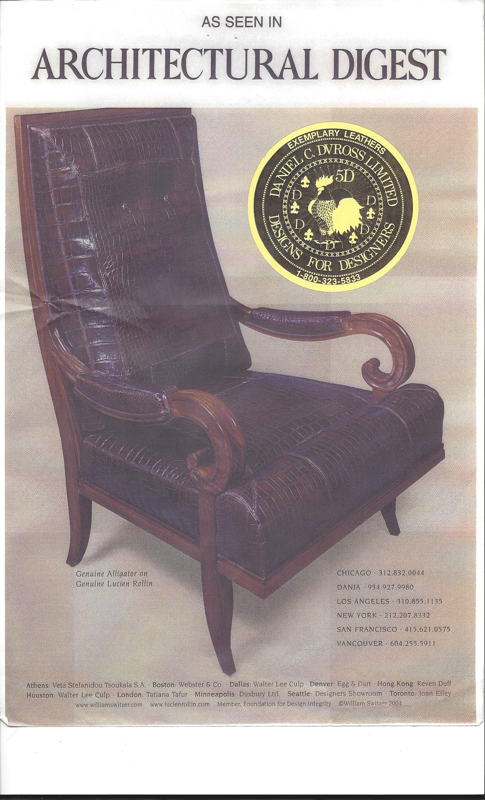 Best Exotic Leathers to Use for Chairs and Ottomans