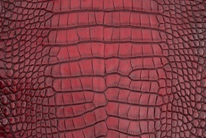 This vintage red alligator skin is one of many custom skins that you can order through Pan American Leathers!
