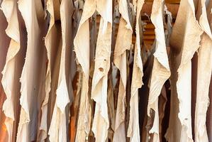 Vegetable tanning often results in brown leather colors.