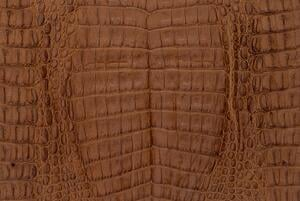 Caiman leather is frequently more deeply ridged than other crocodilian leathers.