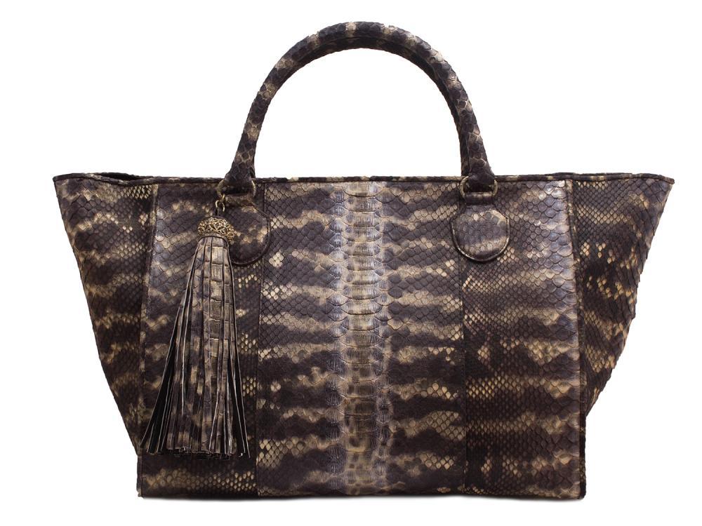 python skin bag by Armenta