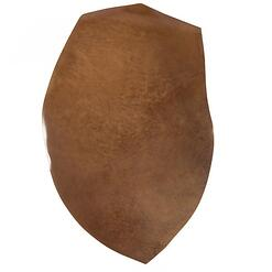 Shell cordovan leather is roughly ovoid in shape, and is very durable.