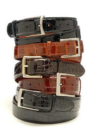 alligator leather makes for beautiful menswear belts.